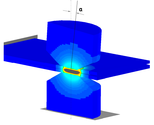 sorpas 3d model for electrode misalignment