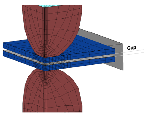 sorpas 3d model for gap between metal sheets