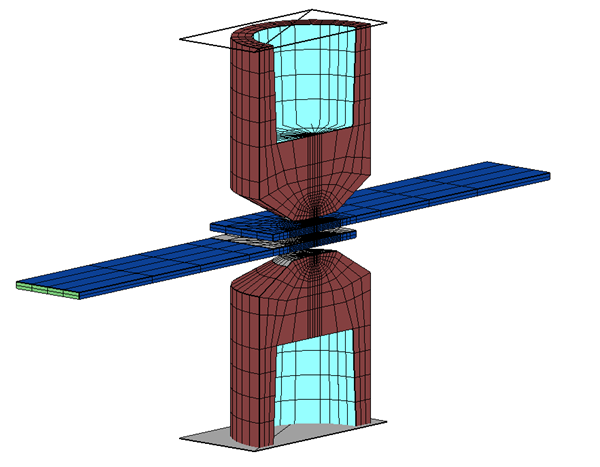 3D Tensile Shear Stress Testing Model